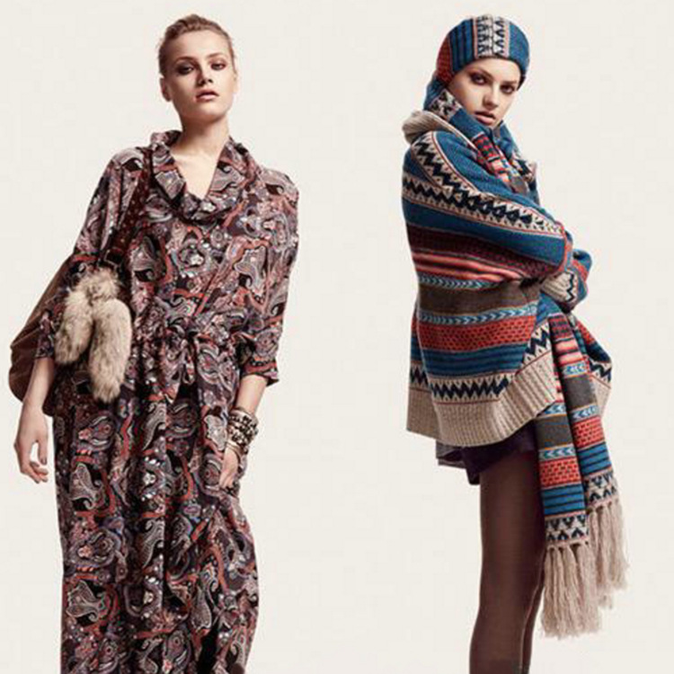 2019 Autumn And Winter European And American Streets Ultra-Long Women's Bohemian Ethnic-Style Tassels Faux Cashmere Jacquard Sca
