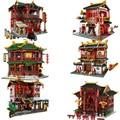 XINGBAO Zhonghua Street Chinatown Building Series The Toon Tea House Pub набор строительных блоков Кирпичи с фигуркой детские игрушки подарки