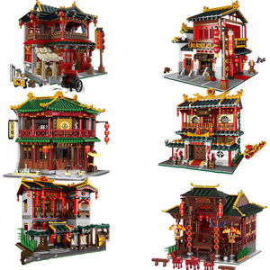 Image 1 - XINGBAO Zhonghua Street Chinatown Building Series The Toon Tea House Pub Set Building Blocks Bricks With Figure Kids Toys Gifts
