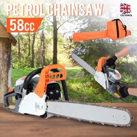 52CC Gasoline Chainsaw Petrol Engine 2 Stroke 20 Bar Chain Saw Woodworking Power Tool Set