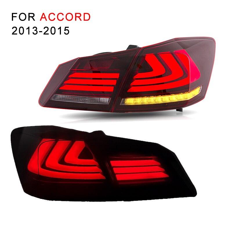 LED Tail Light Assembly For Honda Accord 2013 2014 2015 LED Tail Lamp With Reverse Light Turning Signal Light Brake Light