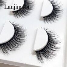 Pestañas postizas naturales, 3 pares, maquillaje largo 3d, extensión de pestañas de visón, belleza # X11