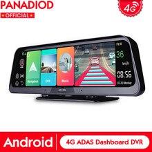 DashCam 10 4 Polegada Android 8.1G WIFI GPS Bluetooth CameraFull 2GB + 32GB ADAS Espelho DVR Carro HD 1080P Gravador De Vídeo Para Auto