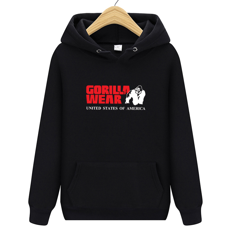 New Men Hoodies Gorilla Wear Letter Printed Casual Hoodies Mens Fleece Fashion Hip Hop Hoody Mens Hoodies Sweatshirt