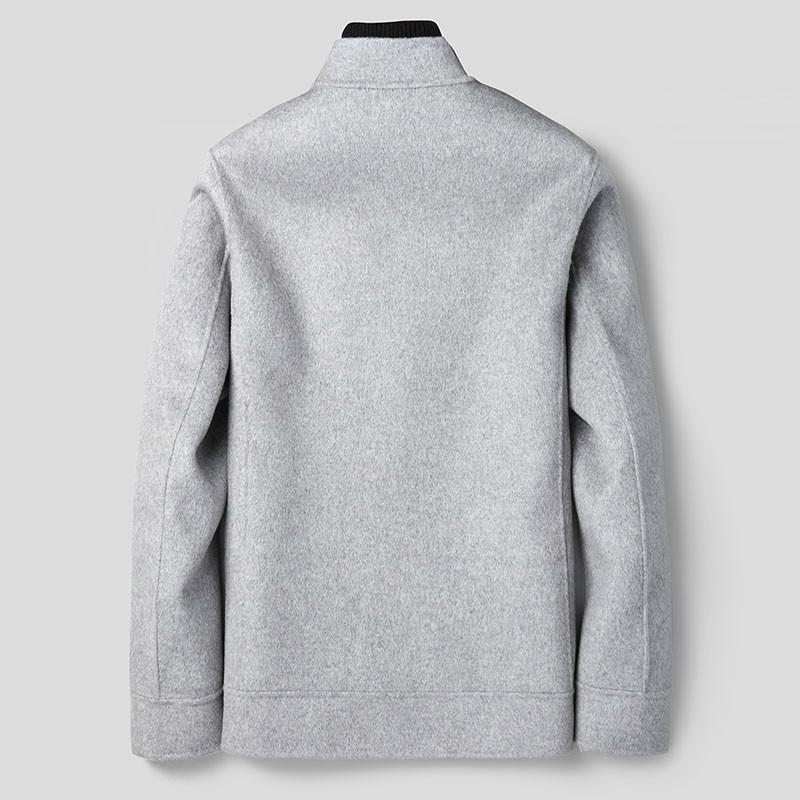 Wool Coat Men Double-sided Baseball Jacket Spring Autumn Men's Coat Plus Size Casual Mens Overcoat XY-188807 KJ2247