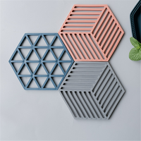Stripe Design Concrete Cup Coaster Silicone Mold Cement Coaster Plate Mold