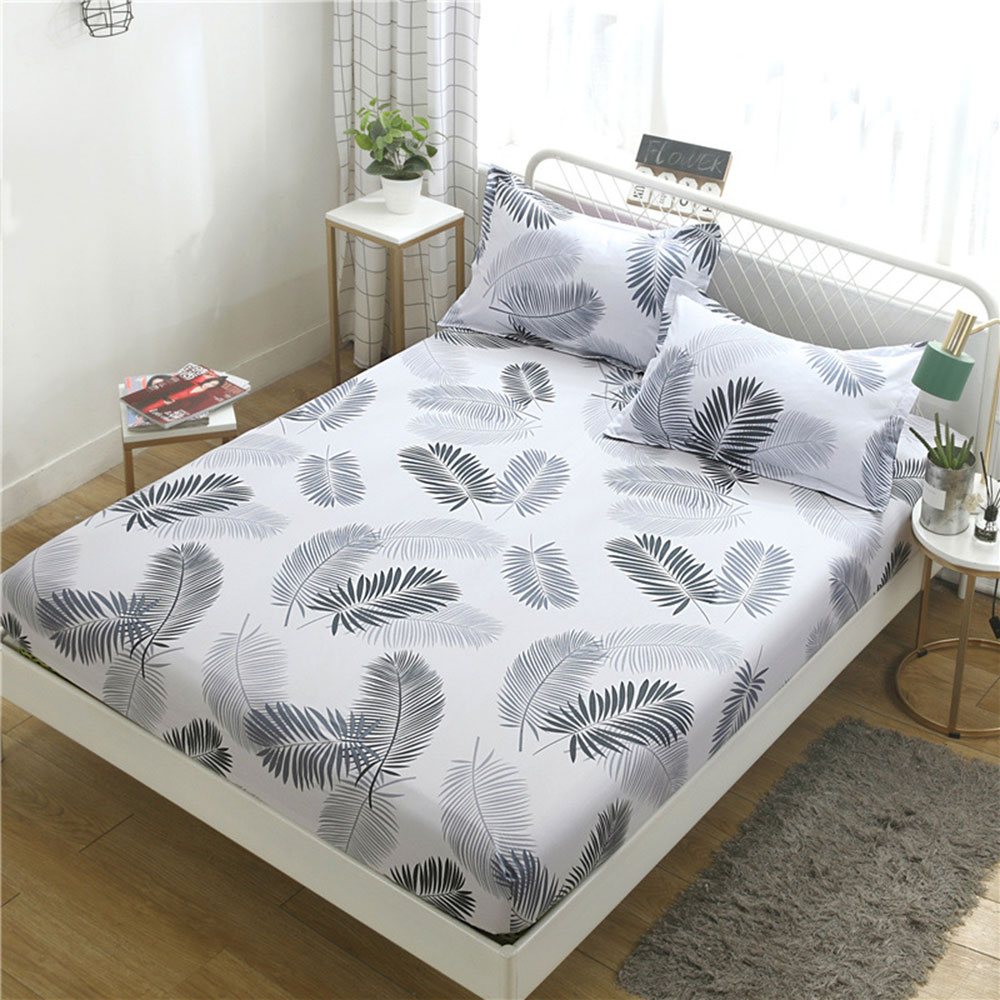 100% Polyester Fitted Sheet Mattress Cover Solid Color Sanding Bedding Linens Bed Sheets Double Queen Size Bedsheet Wholesale
