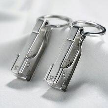 Цепочка для автомобильных ключей из нержавеющей стали простой