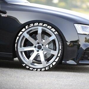 Image 4 - Letras de borracha 3d etiqueta do pneu carro para bmw e39 520 520i 528i 530i 540i 4.4 v8 m52 m52/tu m54 m sport wagon acessórios do carro esporte