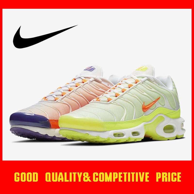 Original authentique Nike Air Max TN Plus couleur Flip chaussures de course pour hommes baskets respirant Sports de plein Air 2019 nouveau CI5924-061