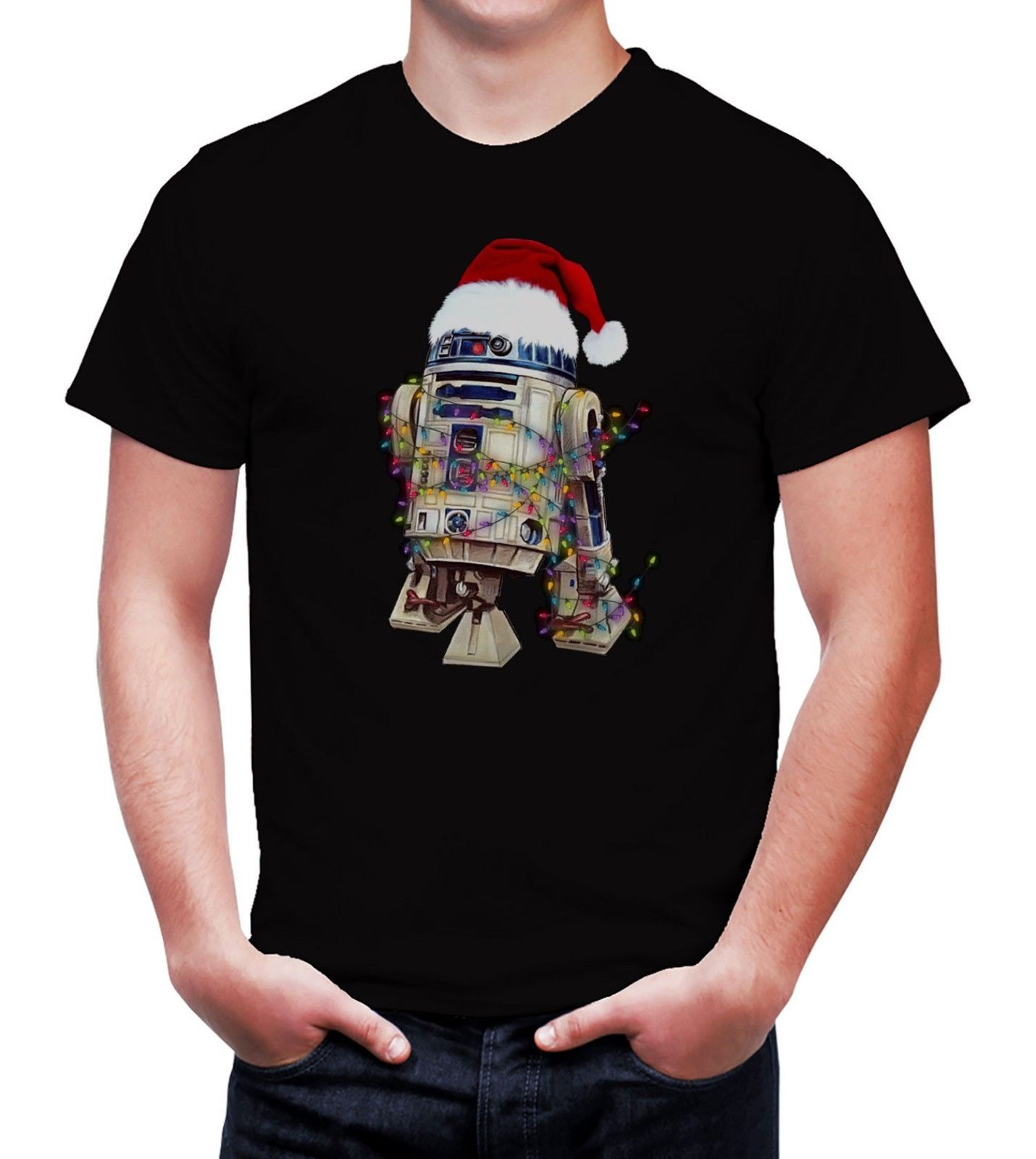 Mens <font><b>Star</b></font> <font><b>Wars</b></font> R2D2 <font><b>Christmas</b></font> T-Shirt Adults & Children Sizes Cool Casual pride t shirt men Unisex Fashion <font><b>tshirt</b></font> image