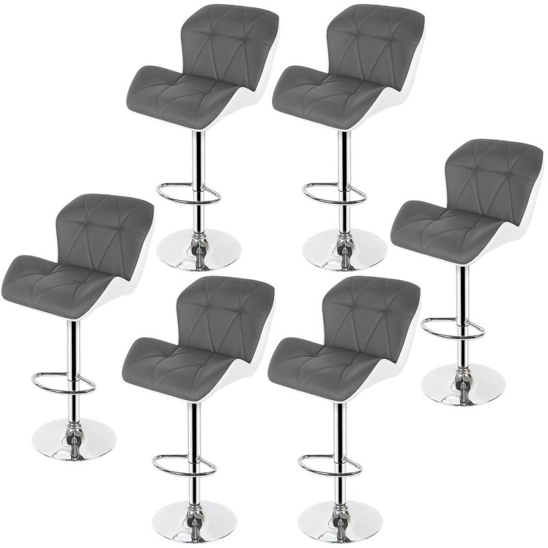 2Pcs/Set Bar Chair Leisure Leather Swivel Bar Stools Chairs Height Adjustable Pneumatic Pub Chair Home Office Kitchen Chair HWC