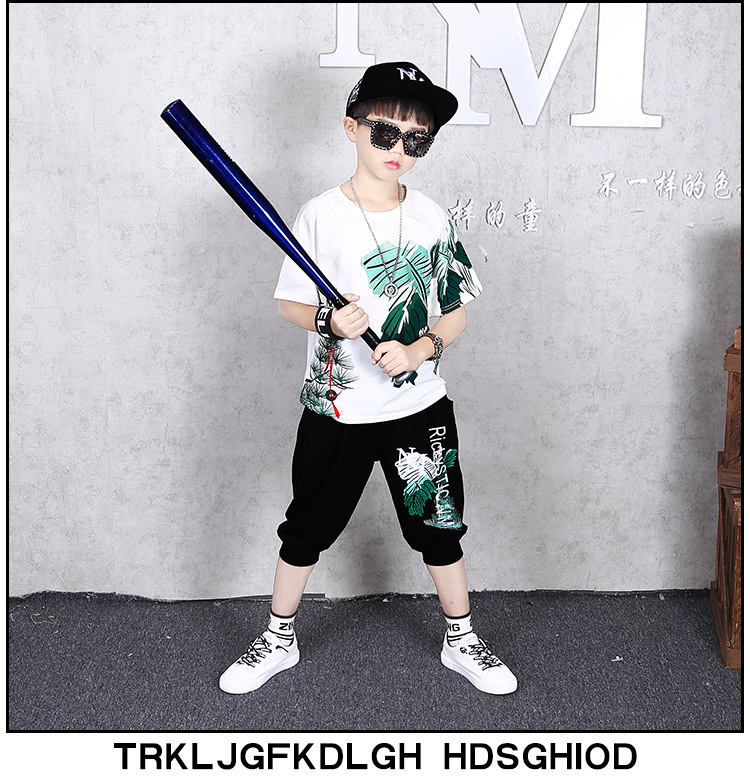 Hd6dd0528e38743929bb20ebfe4d27f7ef - 2 Pcs Children Summer Clothes Set Boys T shirt + Pants Casual Sports Suits 6 8 10 12 13 14 Years Kids Clothing Casual Tracksuit