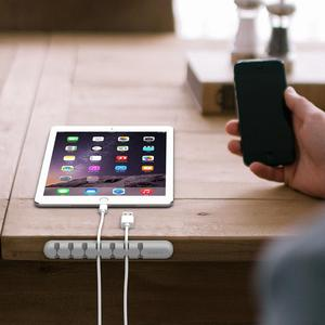 Image 4 - ORICO Organizer do kabli silikonowy Organizer do zwijania kabla USB Desktop Tidy Management kabel z zaciskami uchwyt do myszy przewód słuchawek Organizer