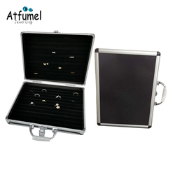 Quality Ring Jewelry Organizer Box Earring Holder Pendant Packaging Travel Suitecase Show Stud Necklace Cufflinks Display Bag