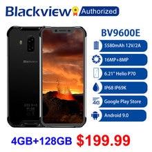 "Blackview BV9600E Robuste Wasserdichte Helio P70 Globale 4G Handy 6.21 ""Android 9,0 Smartphone 4GB RAM 128GB MT6771T 5580mAh"