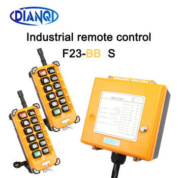 Industrial Wireless Radio remote controller switch 1receiver+ 2transmitter speed control Hoist Crane Control Lift Crane F23-BB