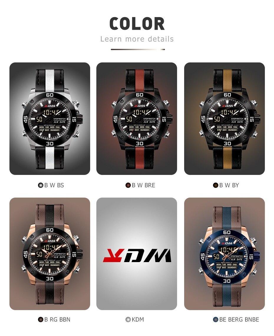 livre relógio masculino multifuncional calendário impermeável duplo-movimento militar relógio