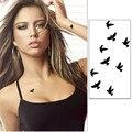 Одноразовые временные тату-наклейки, 10 см, «сделай сам», украшение для вечеринки, унисекс, водонепроницаемые, в форме милой черной птицы, 1 ли...