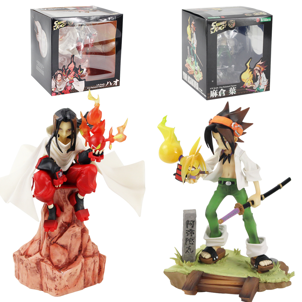 Lensple Shaman King Figure Toy Yoh Asakura Hao ARTFX J 1/8 Scale Pre-Painted Anime Collectible Model Dolls