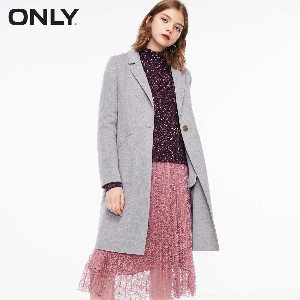 Women's 100% Wool Straight Fit Coat  | 11834S534