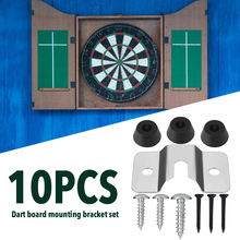 10PCS Dartboard Mounting Bracket Kit Wall Hanging Portable Dart Board Set With 3 Pads For Cabinet Wall And 3 Small Black Nail