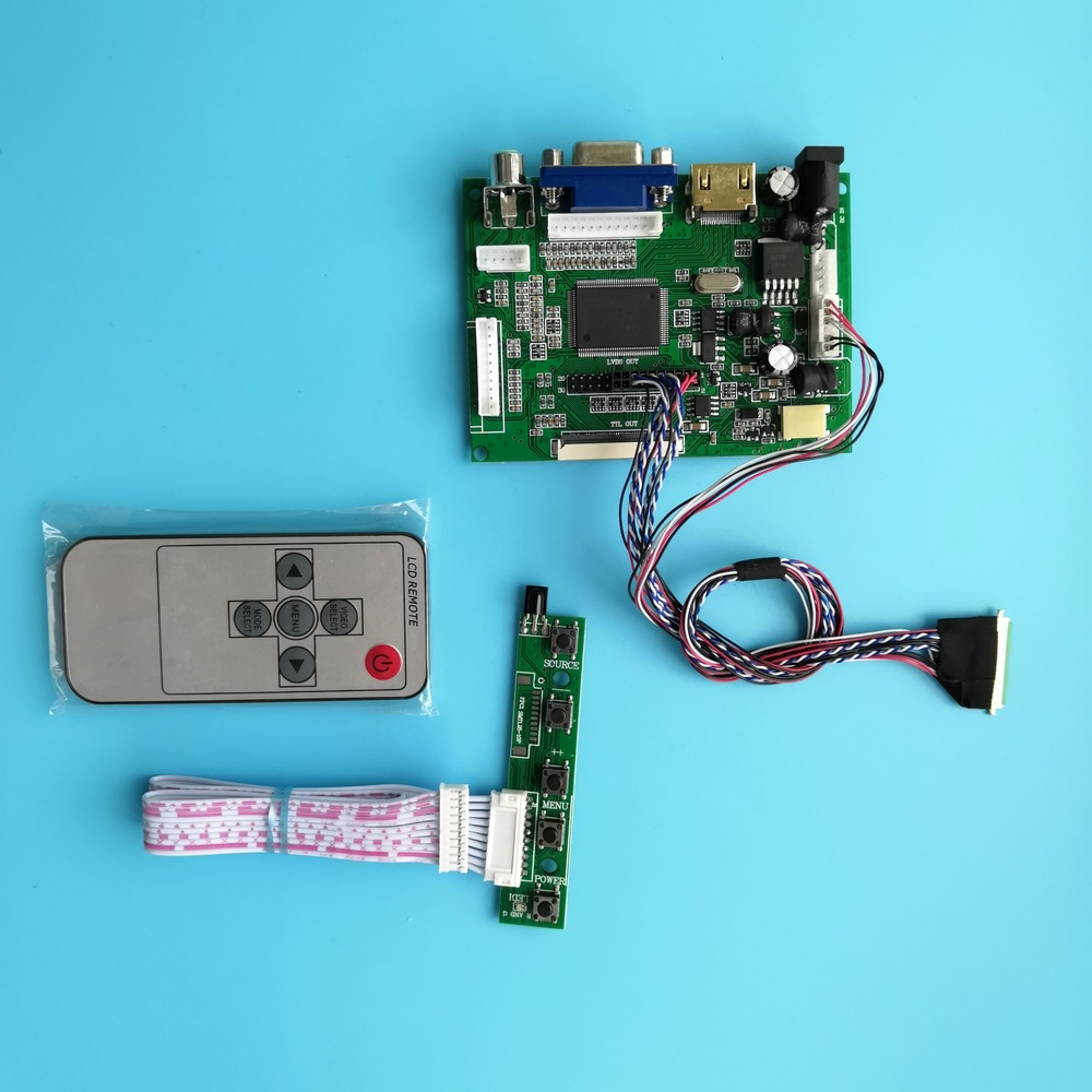 Work For 1366×768 40pin LP156WH4 15.6inch LED Panel Display HDMI VGA 2AV LCD LCD Screen Remote Controller Board Kit