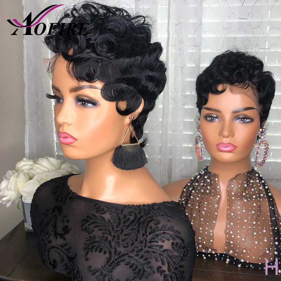 Pixie Curly Wig 13x4 Lace Front Human Hair Wigs Short Hair Style Wig With Baby Hair Brazilian Remy Hair For Women 180 Density Human Hair Lace Wigs Aliexpress