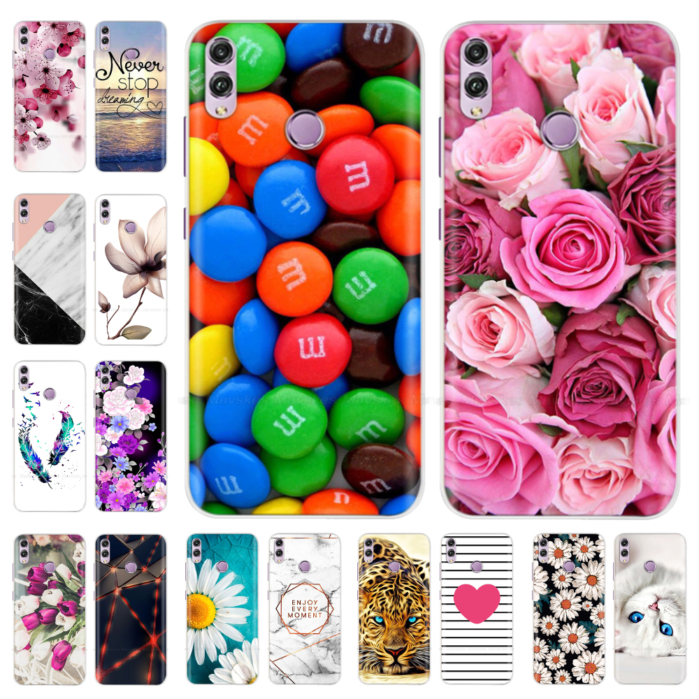 For <font><b>Huawei</b></font> <font><b>Honor</b></font> <font><b>8X</b></font> Case Cover For Honor8x Case Cute Silicone Back Cover For Protector <font><b>Huawei</b></font> <font><b>Honor</b></font> <font><b>8X</b></font> 8 X Phone Cases Bumper image