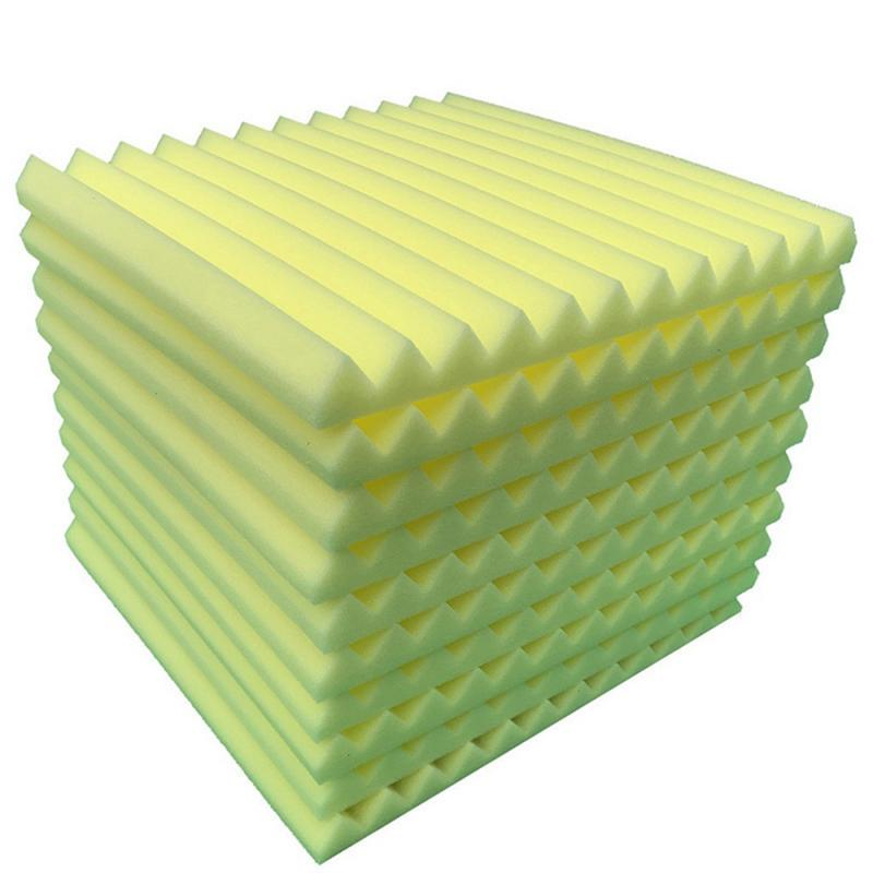10PCS Studio Acoustic Soundproof Foam Sound Absorption Treatment Panel Tile Wedge Protective Sponge