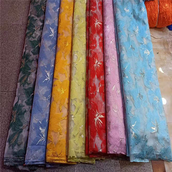 Embroidery Sequins Lace Fabric Organza jacquard Lace Fabrics for Wedding Party African French Lace Nigerian Tulle Lace Fabric