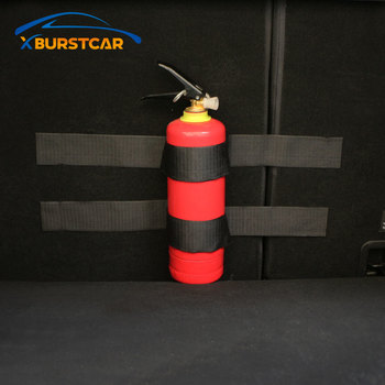 Xburstcar Car Trunk Fire Extinguisher Sticker for Peugeot 206 207 307 308 3008 2008 408 508 4008 for Fiat Punto 500 Cult Bravo image