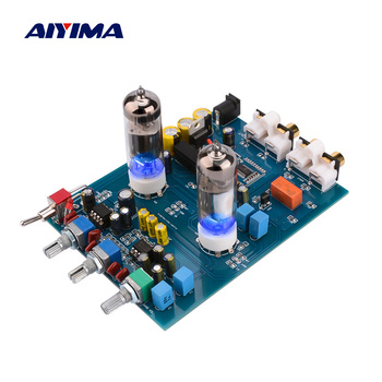 цена на AIYIMA Amplificador Bluetooth Tube Preamplifier Fever Hifi 6J5 Bile Vacuum Tube Preamp JRC5532 Pre Amplifier Tone Control Board