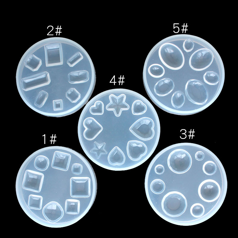 1PC Nail Silicone Mold Jewelry Tools DIY Design Silicone Pendant Templates Pattern Jewelry Molds