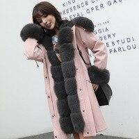 2019 New Arrival Rex Rabbit Fur Lining Parka Woman's Rabbit Hair Coat Latest Design Woman Fur Coat Winter Coats With Real Fur