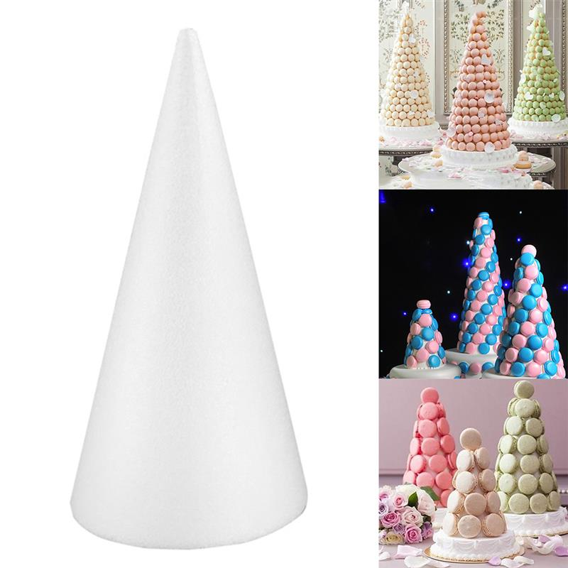 Foam Cone DIY Blank Modelling Styrofoam Christmas Tree Cone Craft Cone For Kids Manual DIY Accessories