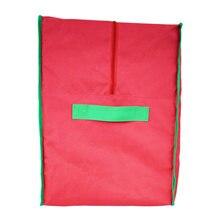 Красная сумка для хранения рождественской елки контейнер домашняя