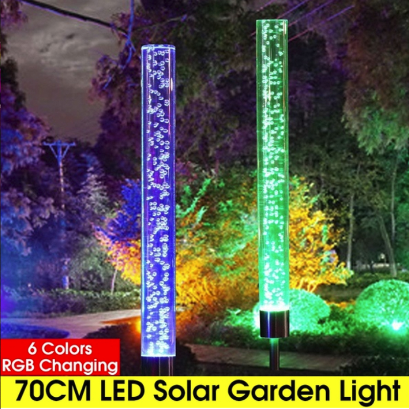 Acrylic Bubble Garden Solar Lights LED Color Changing Waterproof Path Light Patio Lawn Lamp Eco-Friendly Outdoor RGB