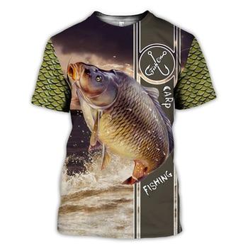 Carp Fishing brown stripe T Shirt All Over Print