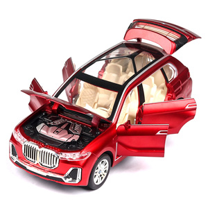 Image 2 - Modèle de voiture BWM X7, moulage de véhicules jouets, Simulation de véhicules, lumière, son, jouet pour enfants, à collectionner, livraison gratuite, 1:24