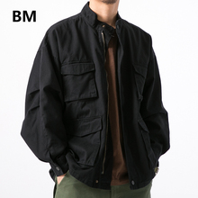 Fashion Korean Style Coat High Quality Casual Tooling Army Jacket Men Clothing Spring Baseball Uniform Japanese Harajuku Clothes
