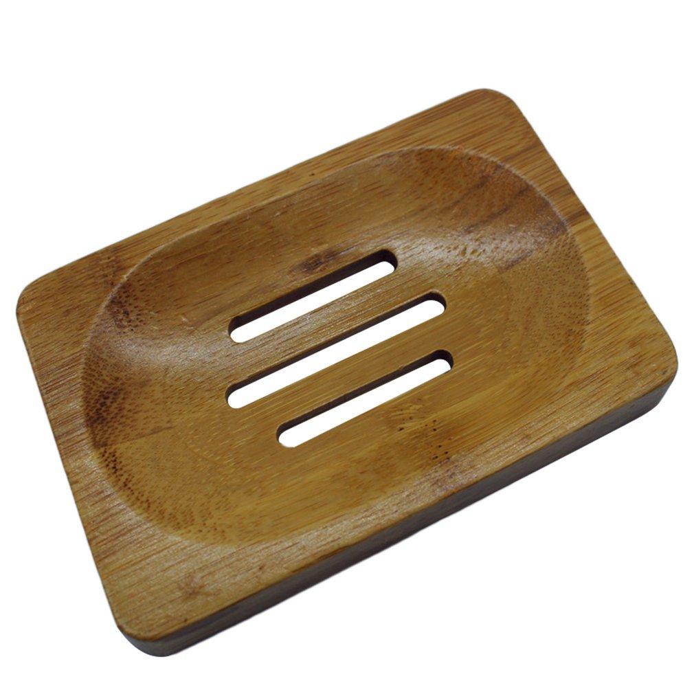 Dish Storage Holder Soap Holder For Bathroom Shower Soap Dish Soap Holder Bamboo Anti-molding Drainage Sanitary Bamboo Box