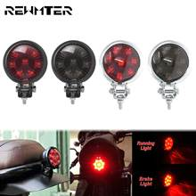 Motorcycle LED Brake Rear Lamp Taillight Cafe Racer Stop Tail Light 12V Adjustable For Harley Chopper Bobber Sportster XL Dyna