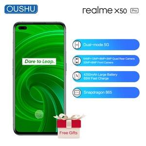 2020 новейший realme X50 Pro двухрежимный 5G мобильный телефон 12G 256G 4200mAh большой аккумулятор 65W флэш-зарядка 64MP 6,4 ''экран мобильного телефона