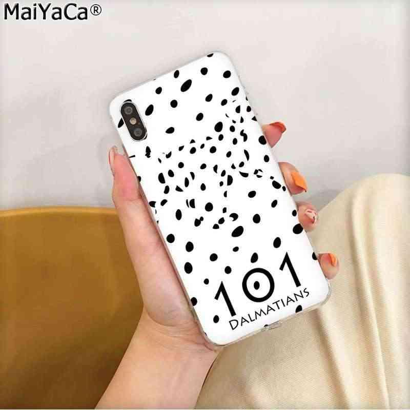 MaiYaCa 101 ダルメシアン犬最小限映画 TPU 透明電話ケースカバーのための iphone 11 プロ 8 7 66S プラス X XS 最大 55S 、 SE XR