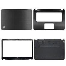 Новинка для HP Envy 4 ENVY 4-1000 4-1008 4-1040 ЖК-дисплей задняя крышка/передняя панель/Упор для рук/нижний чехол Топ чехол Крышка 692381-001 черный