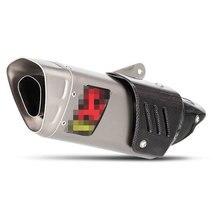 цена на 51mm exhaust motorcycle escape moto with db killer motorcycle muffler motorcycle silencerfor honda benelli nmax msx125