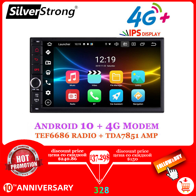 Silverstrong Auto Dvd 2Din Universele Android9.0 Dsp Android Ips Panel Octacore Auto Gps 7 Inch Auto Stereo Auto Radio Navi 706