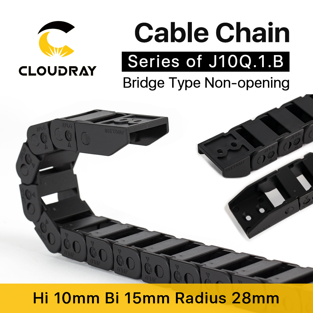 Cloudray Cable Chain 10*10 10*15 <font><b>10*20</b></font> mm 1M Non Snap-Open Plastic Towline Transmission Drag Chain Machine image