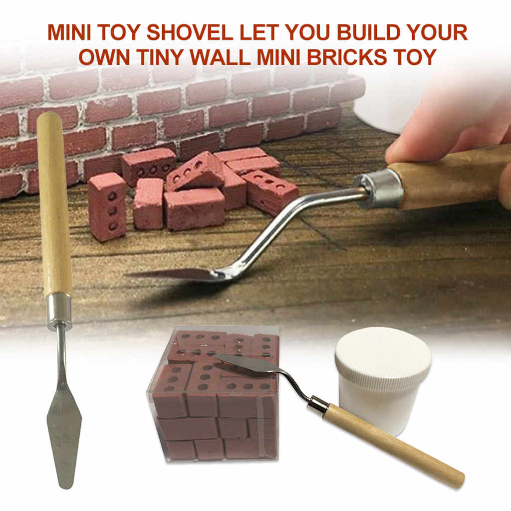 Miniature Shovel Kids Toys Mini Pretend Role Play Let You Build Your Own Tiny Wall Mini Bricks Toys For Children Set Education